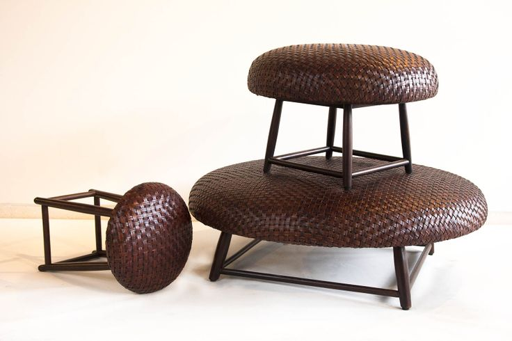 Our Nairobi Stool is made from wood for its leg and mix leather with dark brown finishing. The diameter is 35cm, and height 45cm