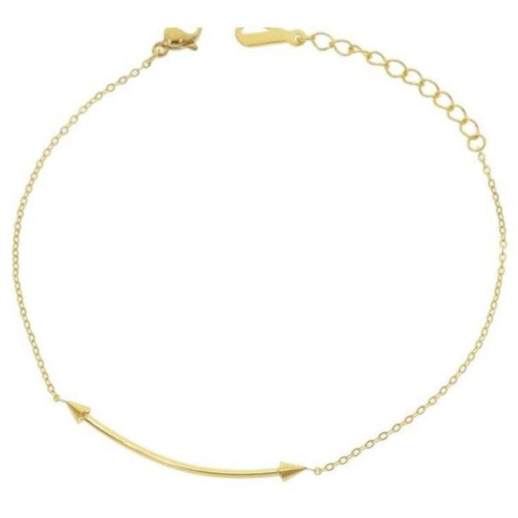 Stainless Steel Flat Bar Arrow Chain Bracelet
