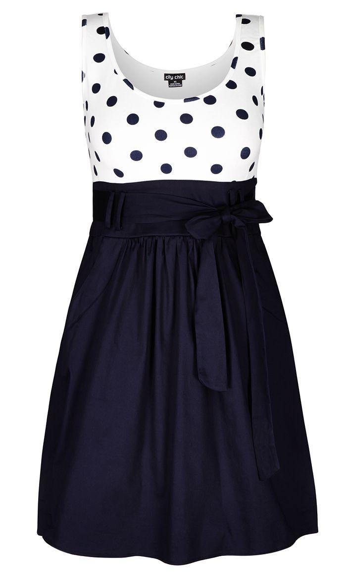 City Chic - CUTE SPOT DRESS - Women's Plus Size Fashion