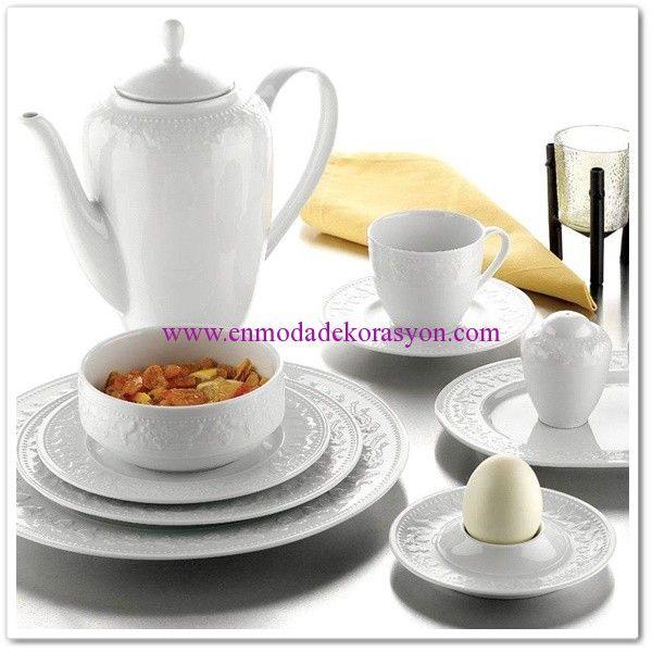 Kütahya Porselen Silvia 6 Kişilik Kahvaltı Takımı