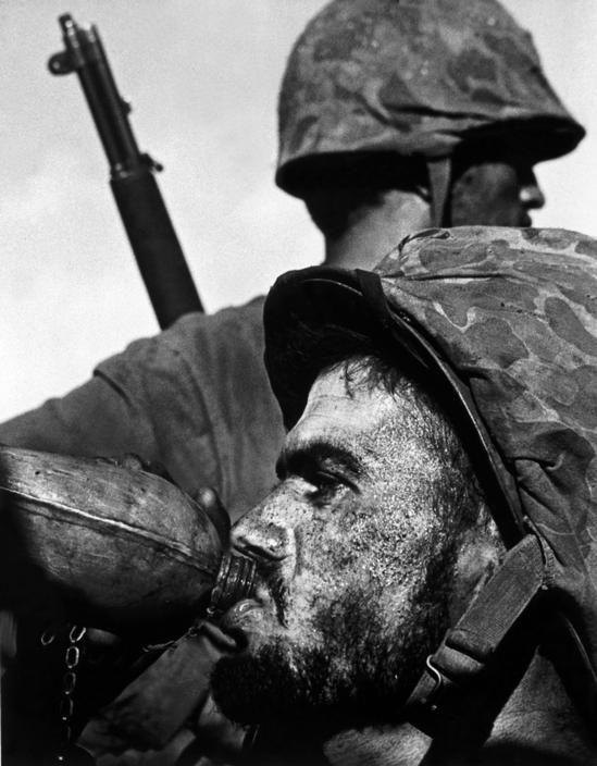 W.Eugene Smith Photographer http://www.territoriotoxico.wordpress.com WORLD WAR II. The Pacific Campaign. 27 June 1944. Battle of Saipan Island. US Marines.
