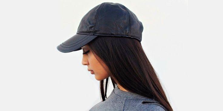 Outfits a los que les hace falta una gorra de piel negra