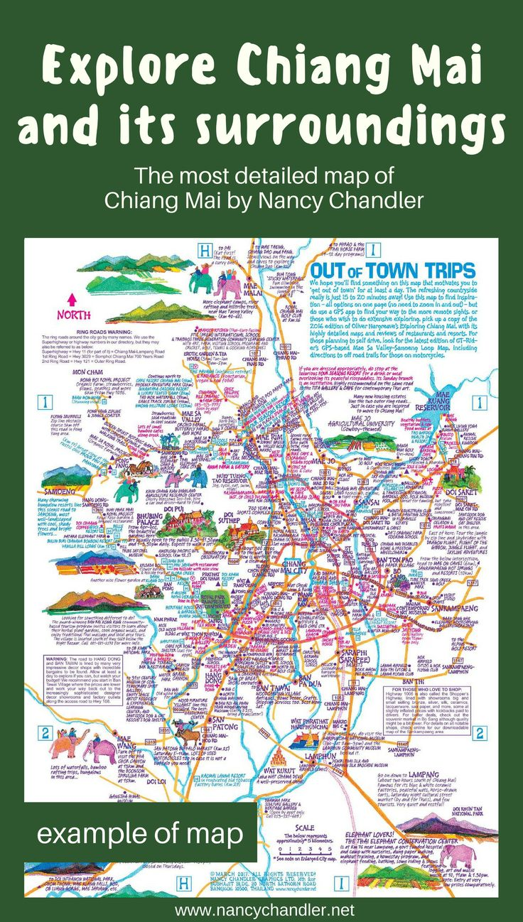 29 best Chiang Mai Travel Map images on Pinterest Travel cards