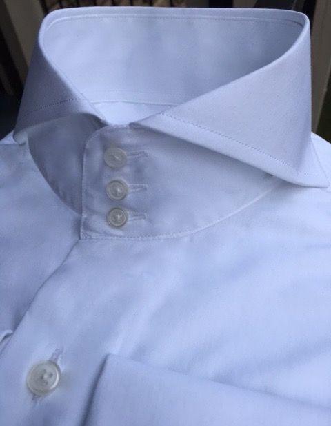 MorCouture 3 Button Cutaway Collar Shirt