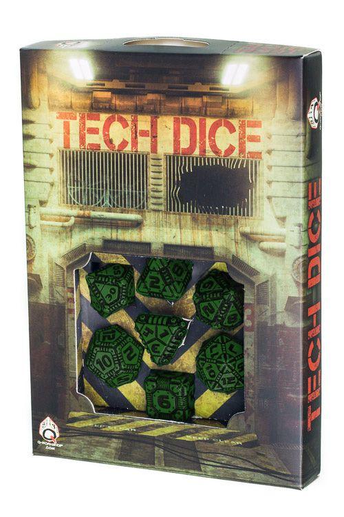 Green & black Tech Dice set