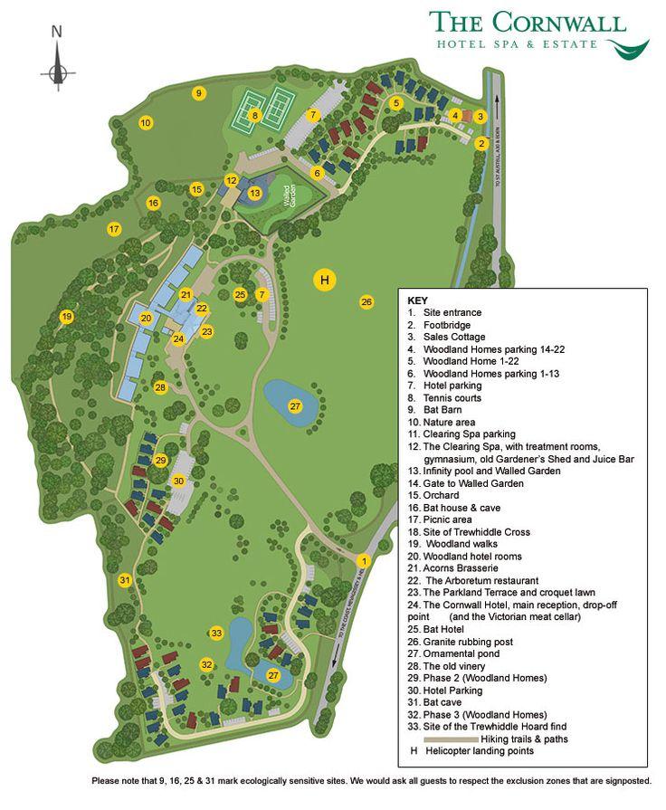 The Cornwall Hotel Spa & Estate - Plan