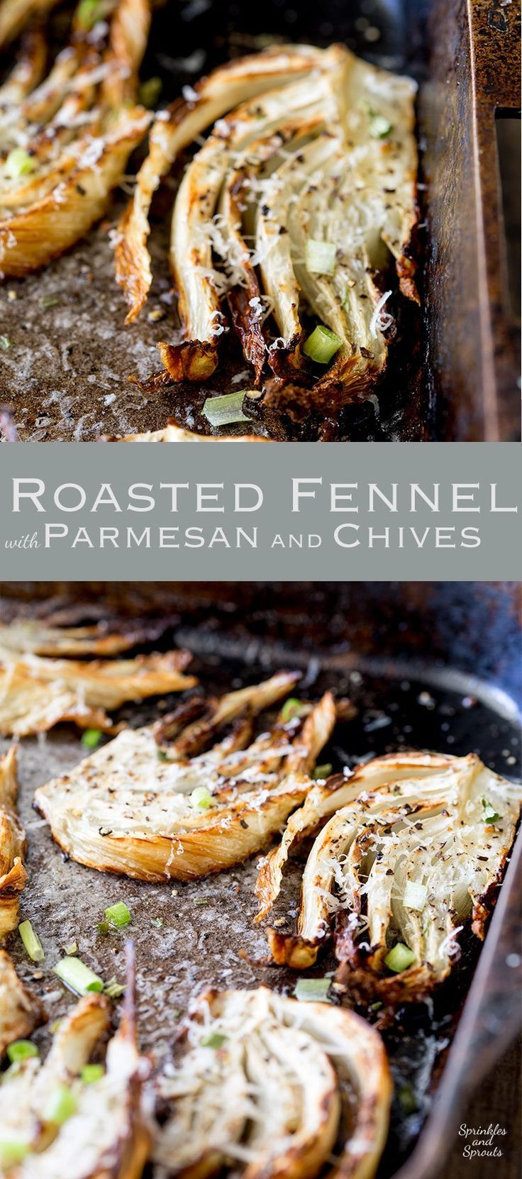 This roasted fennel dish is sweet and mellow and the perfect side for any occasion. It is simple to make and takes no effort as it roasts happily in the oven. Another great side recipe from Sprinkles and Sprouts