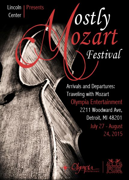 Mostly Mozart Poster Design - by Lawson Bullock