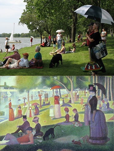 Georges Seurat recreation I loved this pic growing up!