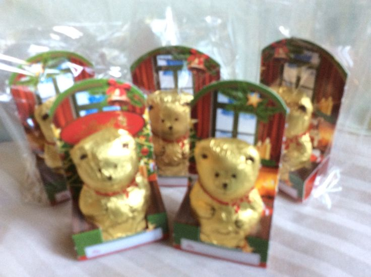 Lindt's miniature chocolate teddys. The only things on our Christmas tree in 2016 that weren't self-made.