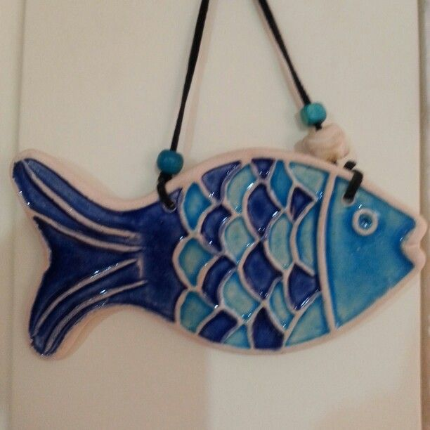 Clay#pottery#fish#glaz#cobalt#blue#handmade#