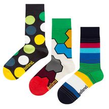 Diversity Gift Bundle   3 pairs of combed cotton crew socks by Ballonet