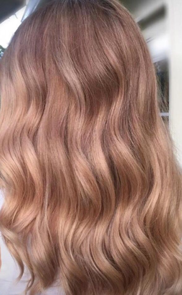 Soft rose gold hair color
