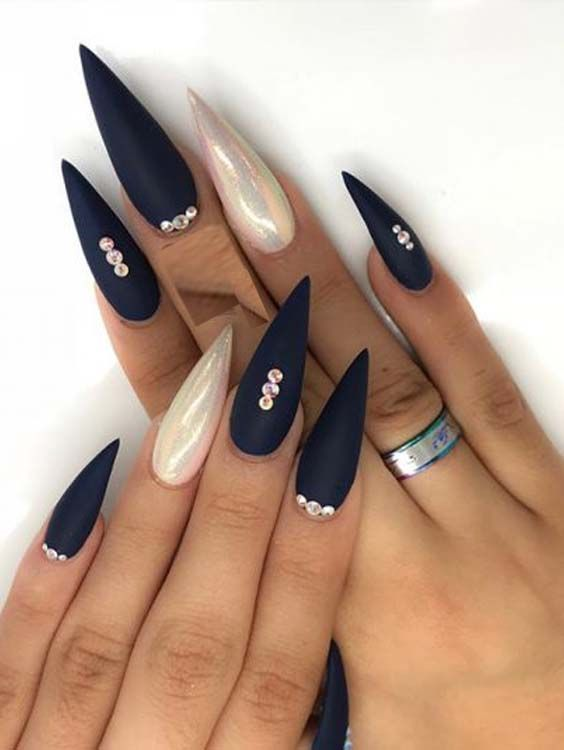 54 Modern Stiletto Shape Long Nail Designs For 2018