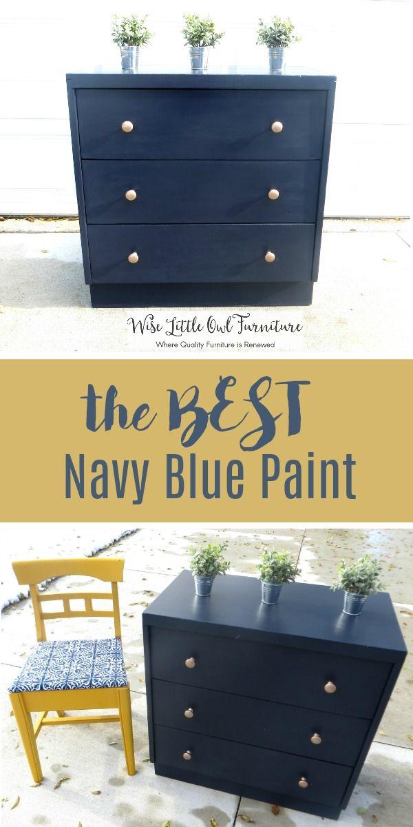 Navy Painted Dresser Blue, Navy Blue Furniture Paint