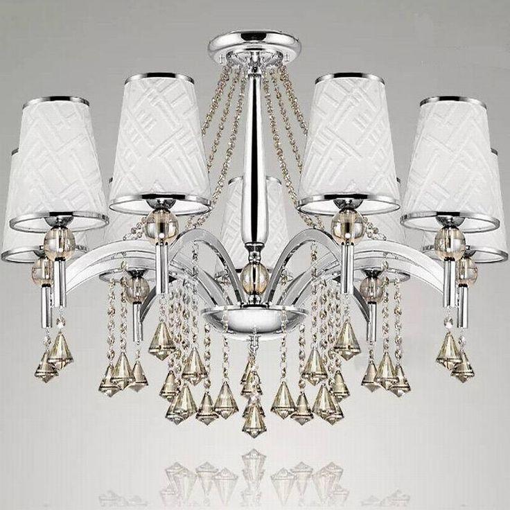 American Fashion Cognac Crystal Chandelier Lamp Modern ...