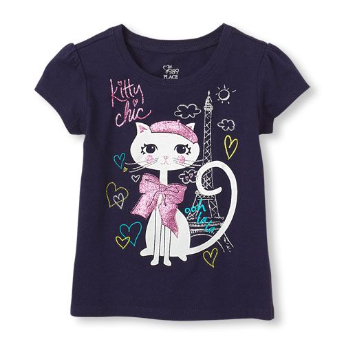 Kitty Chic Graphic Tee Ooh la la to the girl who loves chic and classy!