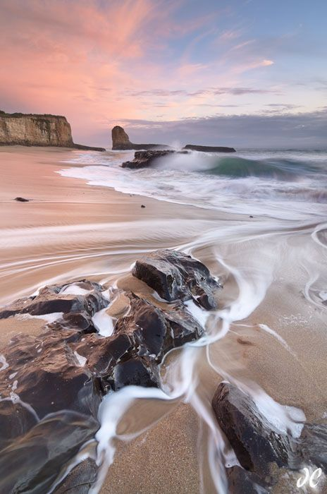 Four Mile Beach sunset, Santa Cruz, California
