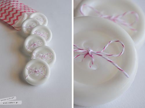 Button soap. Σαπούνι κουμπί.