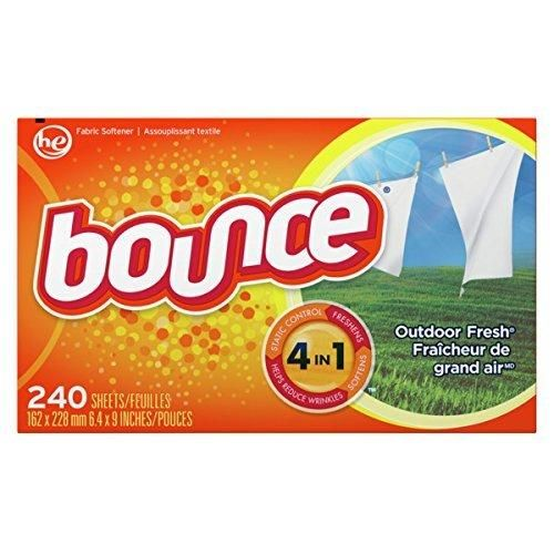 Bounce Outdoor Fresh Dryer Sheets and Fabric Softener 240 Count
