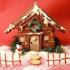 Image result for chocolate finger christmas house