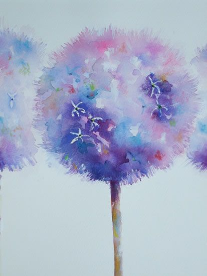 Alluring Alliums - Gallery - Elisabeth Carolan Art - Artist in watercolour…