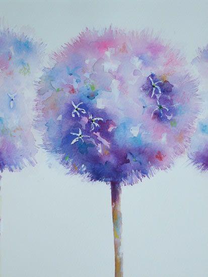 Alluring Alliums - Gallery - Elisabeth Carolan Art - Artist in watercolour, acrylic and mixed media - Woking Surrey