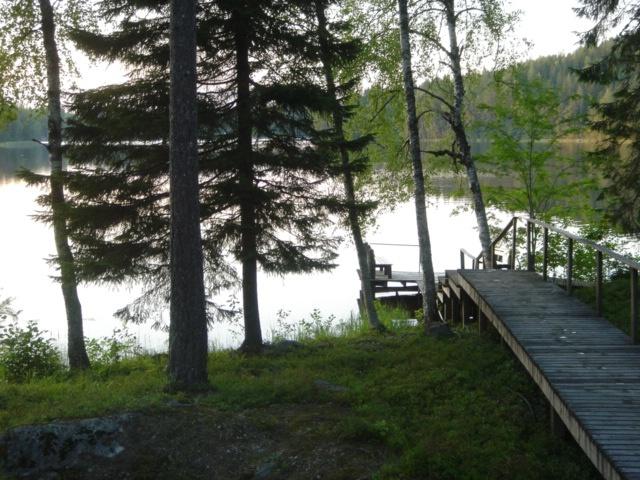 Pier from sauna to the lake. Kreivilä Course Center. Matku, Finland. Photo by Kristiina Mäntynen.