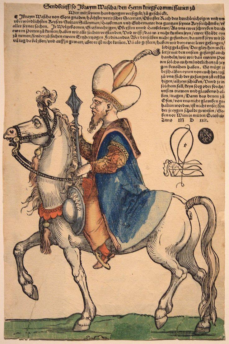 Osmanlı Tarihi:Pargalı İbrahim Paşa'nın, Sebald Beham tarafından çizilen bir gravürü (1530'lu yıllar)