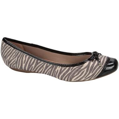 Sapatilha Bottero Botballet Estampa #Zebra Preto e Bege #AnimalPrint