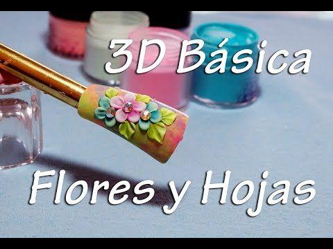 3d Básica - Flores y Hojas Acrílicas - Diseño de Uñas - YouTube