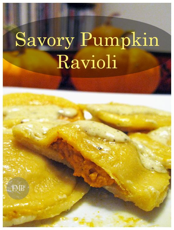 Savory Pumpkin Ravioli - A delicious recipe to celebrate the flavors of autumn.
