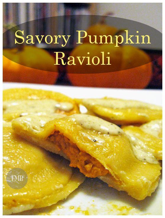 Savory Pumpkin Ravioli - A delicious recipe to celebrate the flavors of autumn.