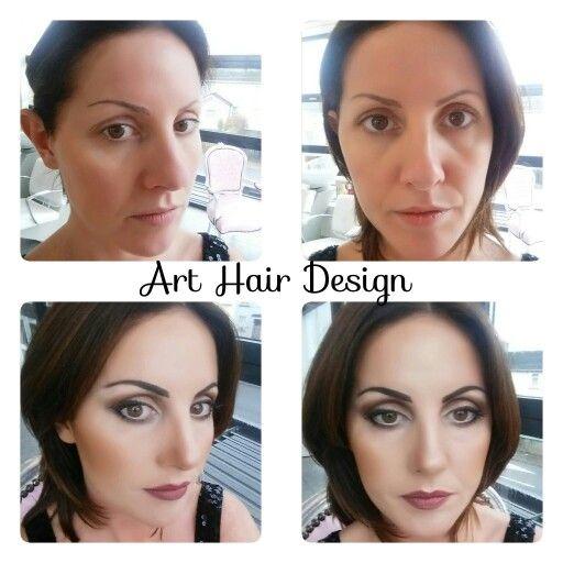 Before & after Hair&Makeup @Arthairdesignandbeauty