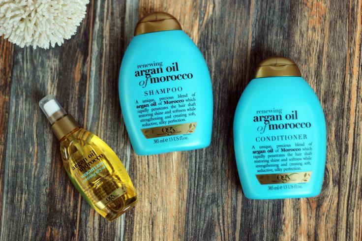 Haarpflegeprodukte von OGX Renewing Argan Oil of Morocco Shampoo Conditioner Oil bei Müller via @myhappyblog