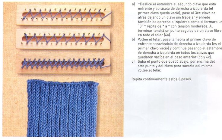 Loom Knitting Stitch Guide 2 : 35 best images about Prym Loom Maxi und Strick-Loom on Pinterest
