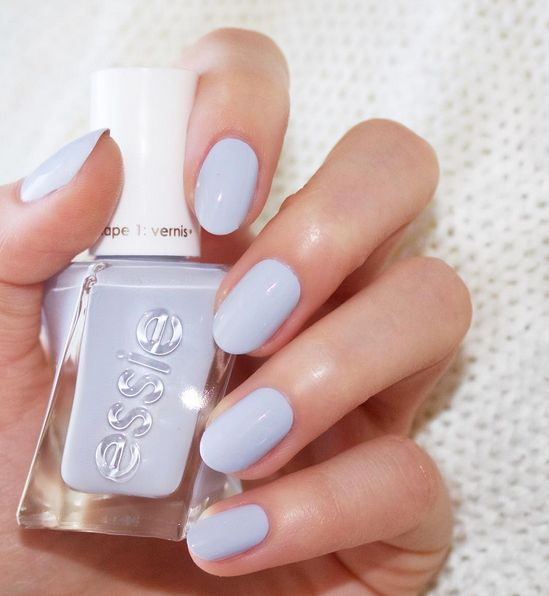 Blue Polish Nail Spa: Periwinkle Blue. Perfect Posture By Essie