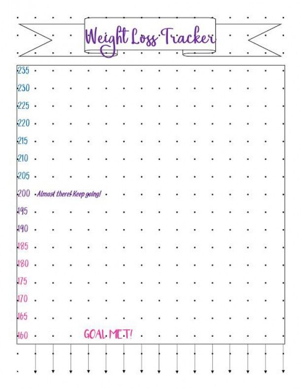 picture relating to Weight Loss Journals Printable referred to as Bullet Magazine Printable - Body weight Reduction Tracker