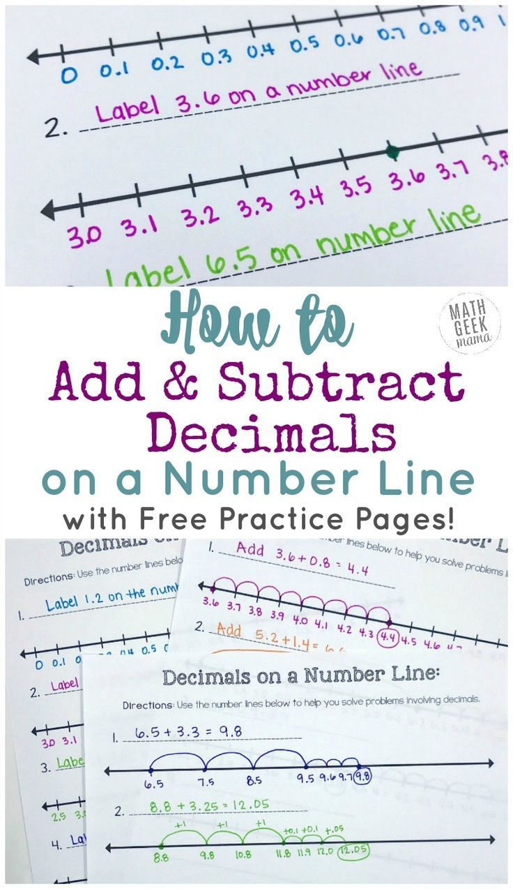 Add Subtract Decimals On A Number Line Free Printable Number Lines Subtracting Decimals Number Line Decimals Adding and subtracting decimals game pdf