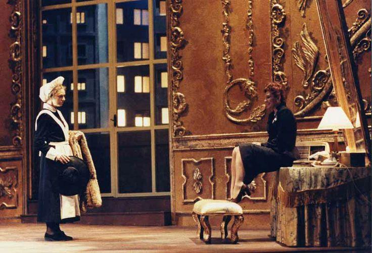"""""""Le serve"""" by Massimo Castri. In photo: Paola Mannoni, Anita Bartolucci. Photo by Marcello Norberth"""