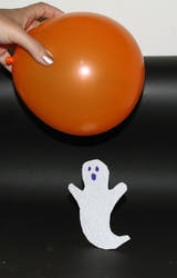 Make a paper ghost dance in the air as if by magic!