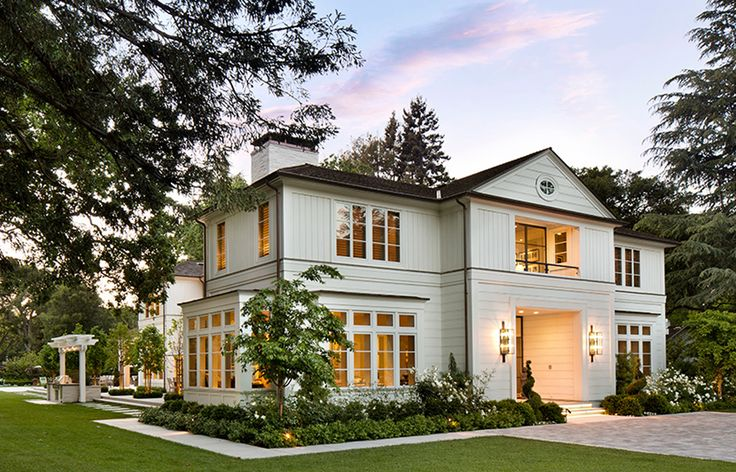 White timber clad home house exteriors pinterest for Transitional home plans