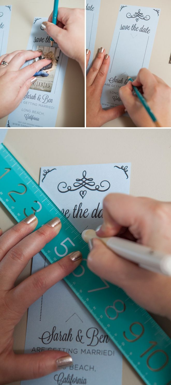 DIY Wedding // Magnet Save the Date Invitations + free editable downloads!