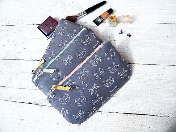Cat makeup bag Cat gifts her Phone cases Travel от simonovabags