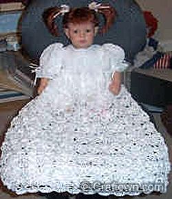 Free Crochet Pattern - Christening Dress
