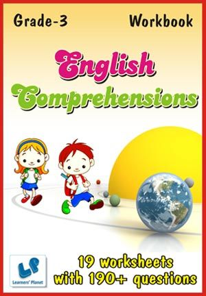 GRADE-3-ENGLISH-COMPREHENSIONS-WORKBOOK This workbook contains printable worksheets on English Comprehensions for Grade 3 students.  There are total 19 worksheets with 190+ questions.  Pattern of questions : Multiple Choice Questions…    PRICE :- RS.149.00