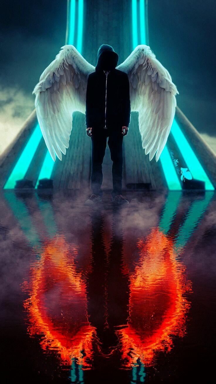 Angel And Devil Wallpaper : angel, devil, wallpaper