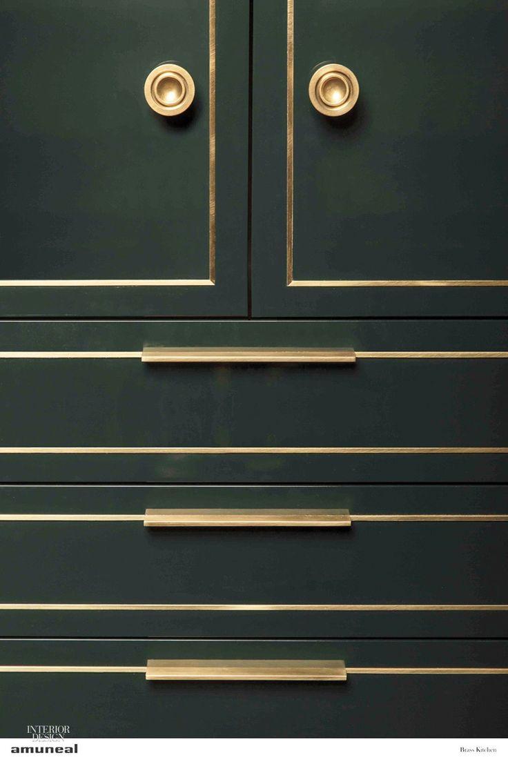 Amuneal Debuts Brass Kitchen in Interior Design Magazine.