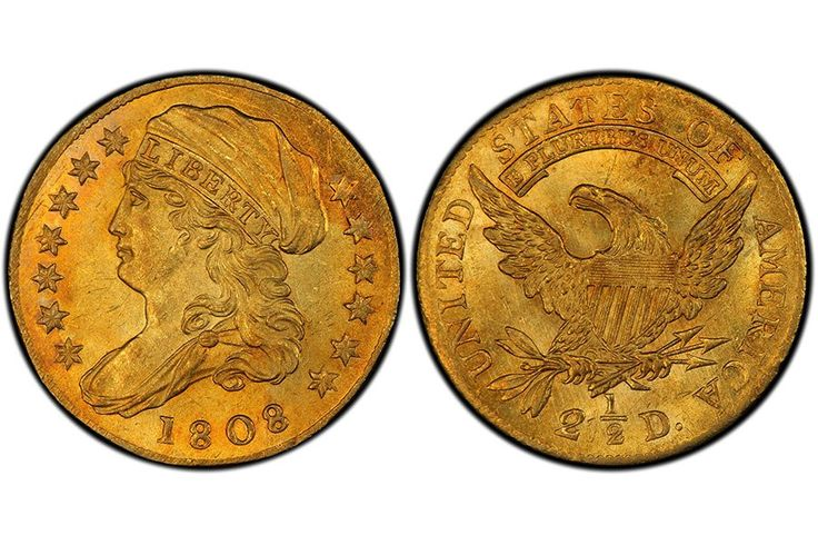 On May 19, Sotheby's in New York will auction the D. Brent Pogue Collection, a set of rare coins expected to sell for $200 million. Pictured here is the 1808 quarter eagle (two-and-a half-dollar gold piece), estimated at $1 million to $1.5 million.