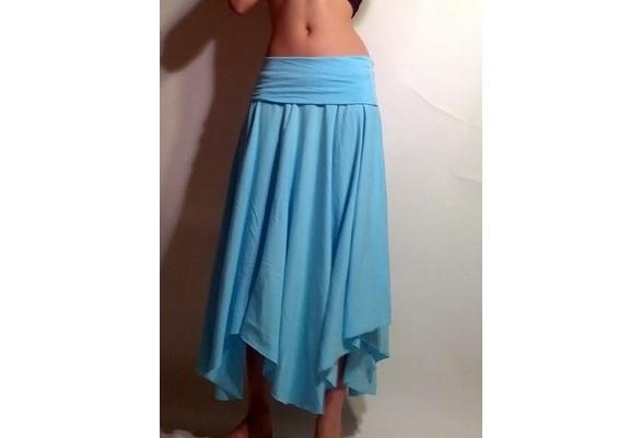 Wish | Handmade skirt - womens skirt - long handmade skirt - womens clothing - upcycled womens skirt - flowy skirt - upcycled clothing